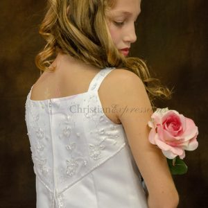 Split Skirt Satin First Communion Dresses Size 12