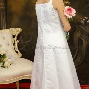 A Line Satin First Communion Dress with Split Skirt Size 6