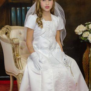 Split Skirt Satin First Communion Dresses Size 6