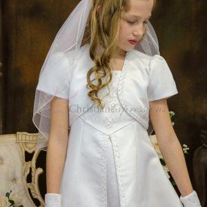 Split Skirt Satin First Communion Dresses Size 7