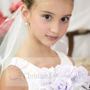Silver Crown Girls First Holy Communion Veil Tiara