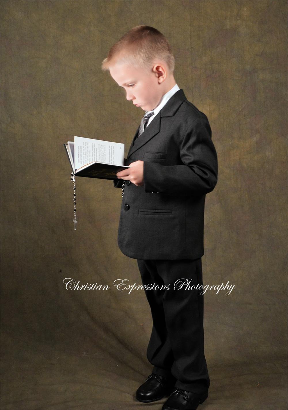 b4b02957f82d Boys First Communion Suit Black – FirstCommunions.com