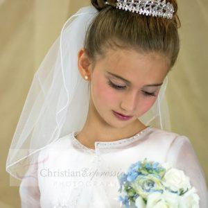 First Communion Crystal Crown Tiara