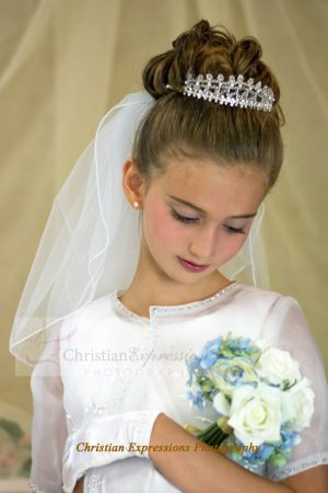 First Communion Crystal Crown Tiara