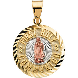 Tri-Color First Holy Communion Medal