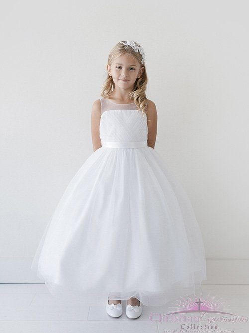 First Communion Dress Pleated Bodice
