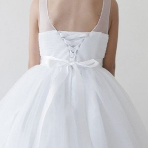 Holy Communion Dress for Girls with Corset Back