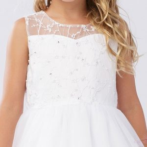 First Communion Dress Beaded Bodice