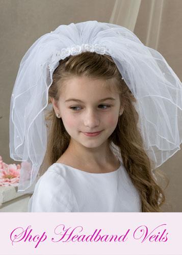 First Communion Headband Veils