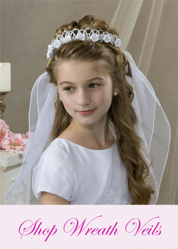 First Communion Wreath Veils